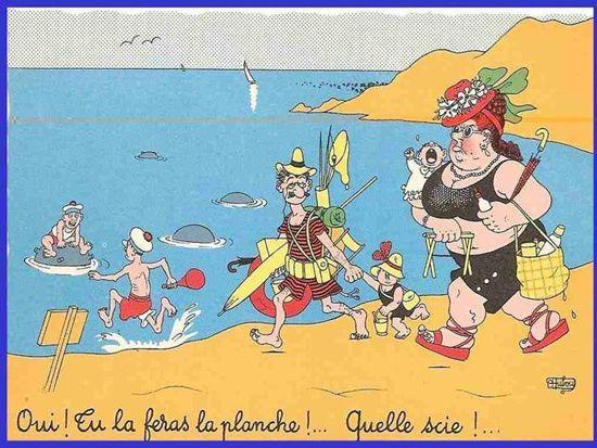 A la plage avec Albert Dubout