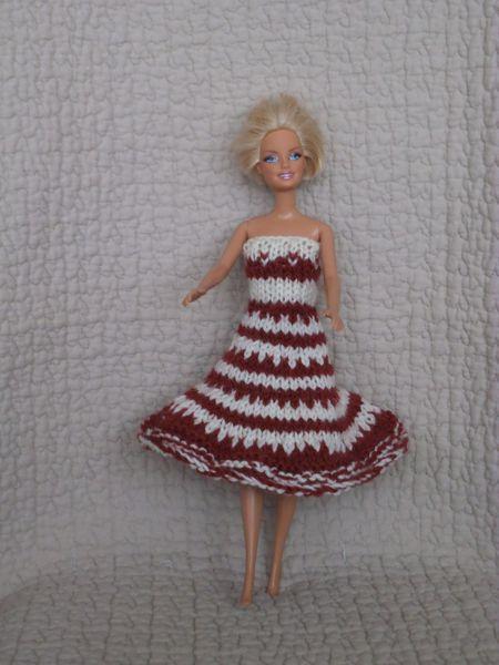 DIY robe jacquard barbie