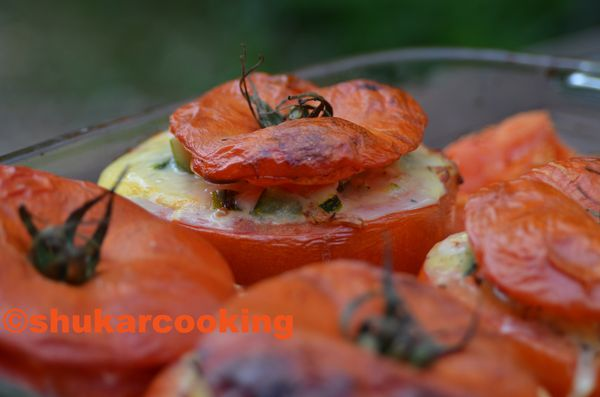 Tomates farcies: courgettes-jambon