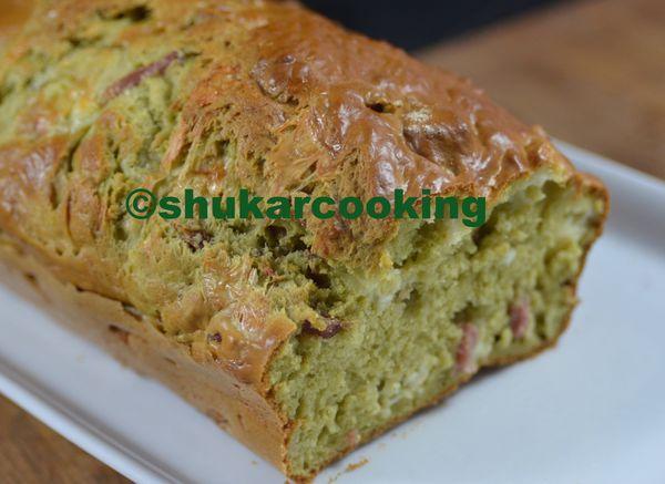 Cake à la farine verte
