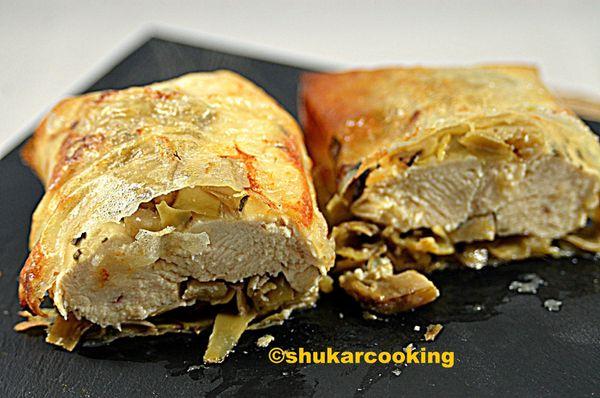 Croustillant de poulet aux artichauts
