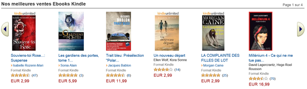 Meilleures ventes Ebooks Kindle sur Amazon.fr