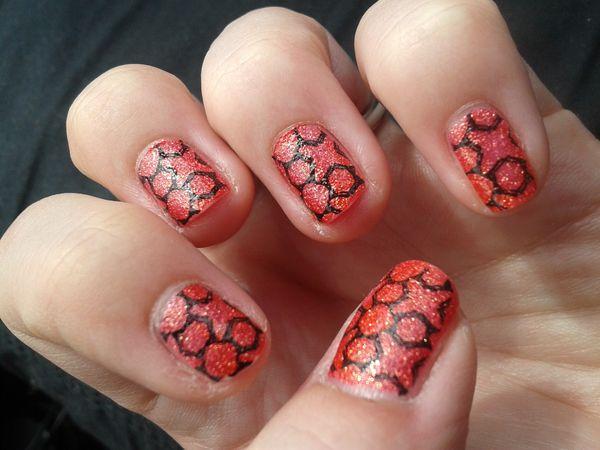 Nail Art Stamping &quot&#x3B;effet sablé&quot&#x3B;