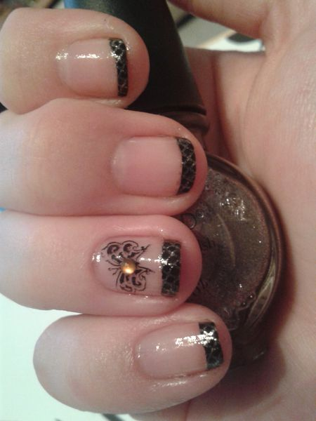Nail Art Stamping &quot&#x3B;french chic&quot&#x3B;