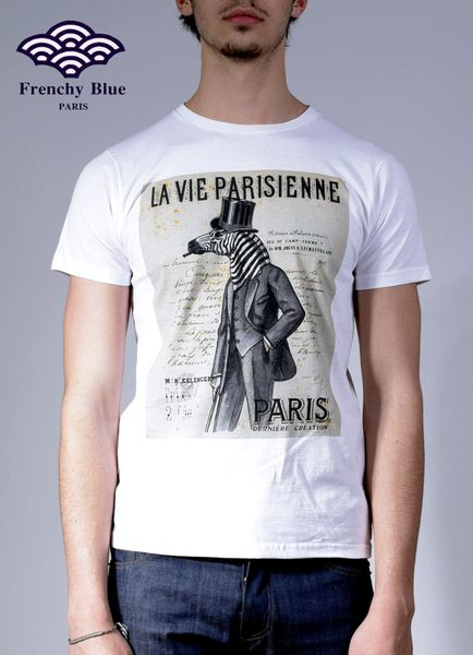 le T-shirt Frenchy Blue, by Eric Casotto