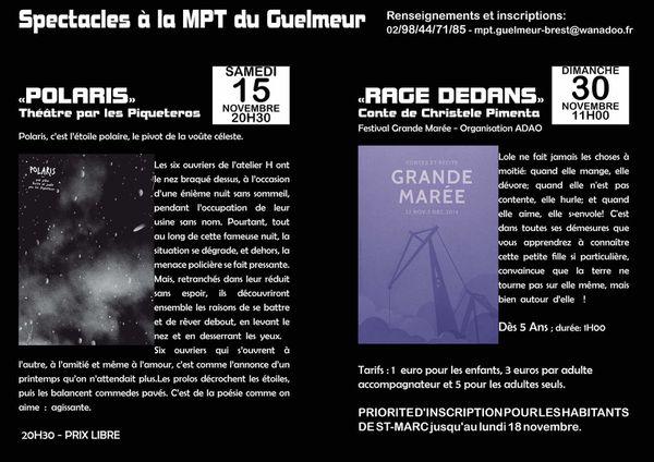 Théâtre et Conte en Novembre à la MPT