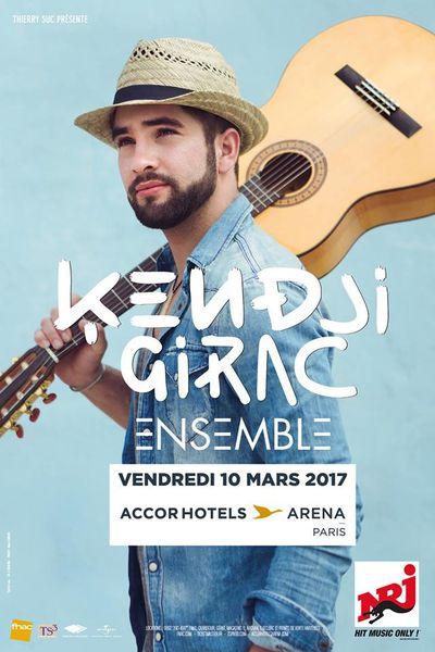 Kendji Girac donnera un concert exceptionnel à l'AccorHotels Arena le 10 Mars 2017 !