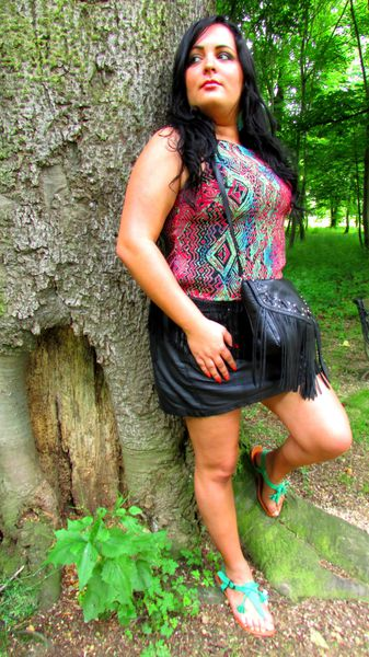 Outfit of the day dans la forêt