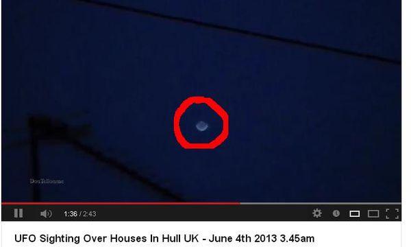 Ovni filmé à Hull en Grande Bretagne le 4 juin 2013