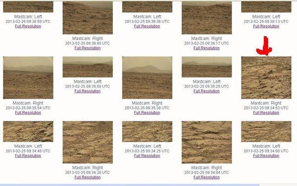 Encore une curieuse forme photographiée sur Mars par Curiosity
