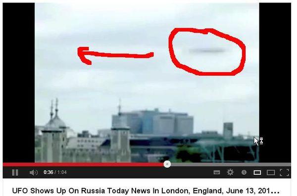 Ovni filmé à Londres le 13 juin 2013