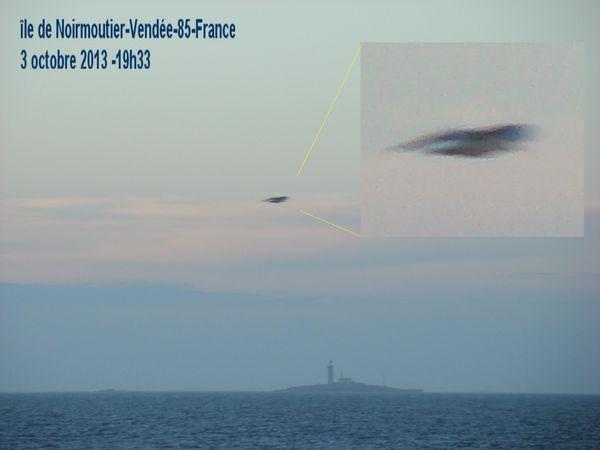 Ovni photographié à l'Île de Noirmoutier en Vendée en France le 3 octobre 2013