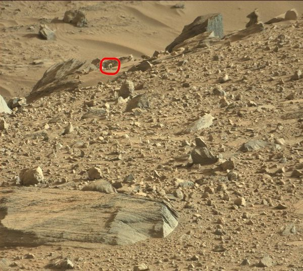 Etrange structure sur Mars photo Curiosity Sol 1100 prise 10 septembre 2015