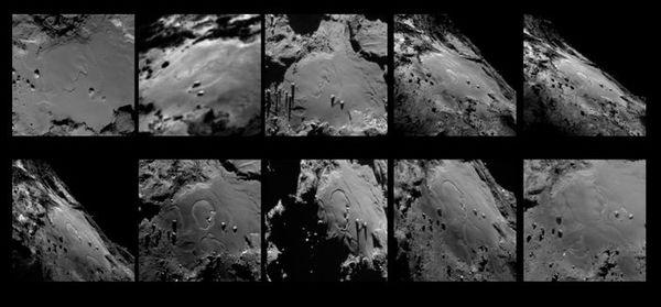Cette série de photos sur la comète Tchouri