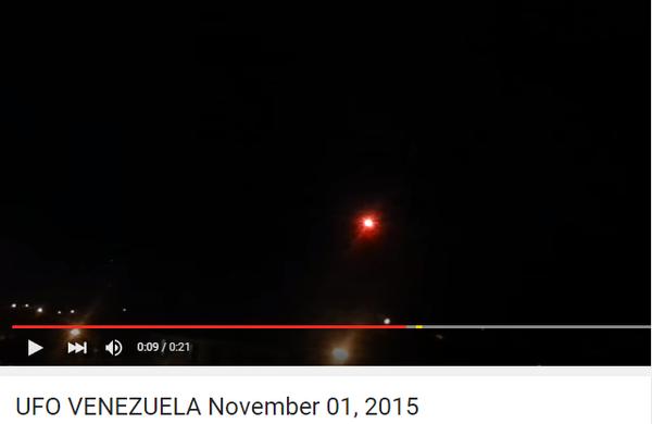 Ovni filmé à San Felipe Etat du Yaracuy Vénézuela 1 novembre 2015
