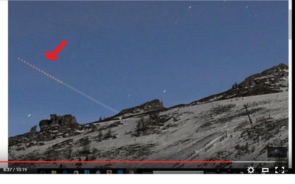 Photo extraite de la vidéo : ovni en Autriche le 26 janvier 2016.