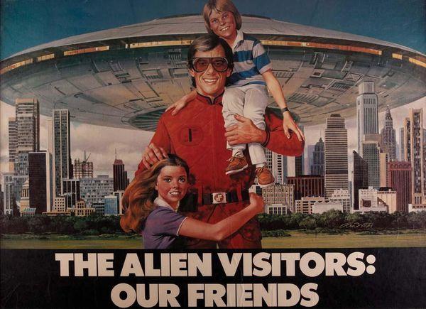 """Image : une illustration de la série télévisée """"V"""". Les Aliens Réptiliens envahissent la Terre..."""