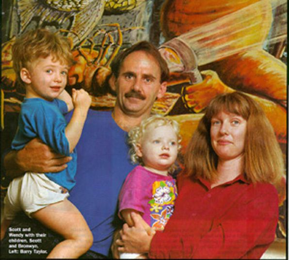 Photo : la famille Scott et Wendy Longley.