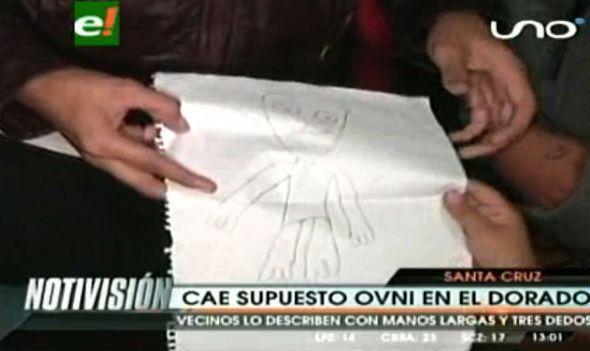 Photo extraite de la vidéo : croquis de l'Alien à Santa Cruz, Argentine...