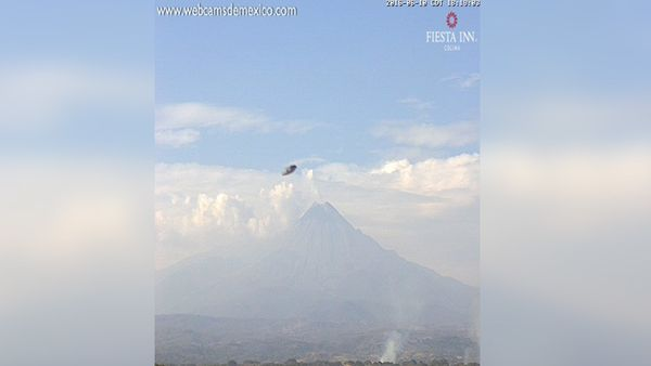 Photo : ovni au volcan Colima, au Mexique...