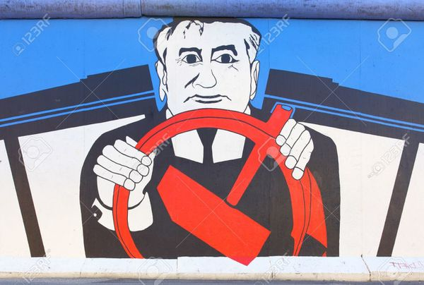 Illustration : Gorbatchev tient la route...