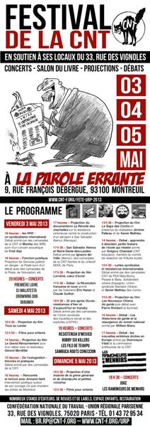 Montreuil (93) : fête de la CNT à la Parole errante