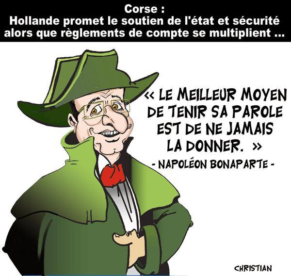 Hollande en Corse