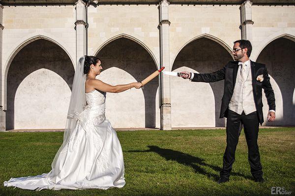 Séance mariage : le duel