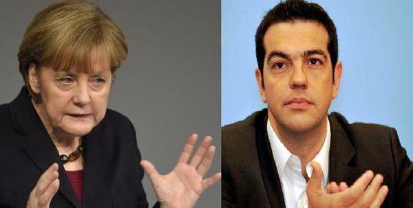 Angela Merkel et Alexis Tsipras
