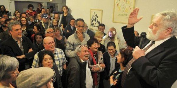 François Liberti à Sète proclame les résultats. Photo Vincent Andorra ML