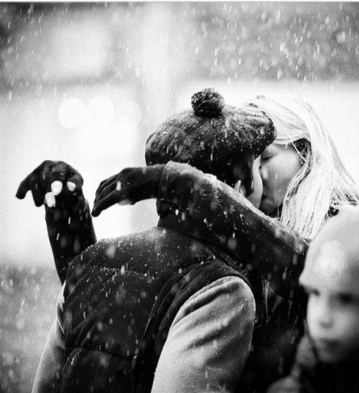 Le baiser dans la neige et les feux d'artifice