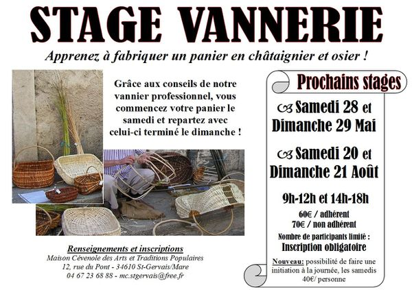 Stages Vannerie