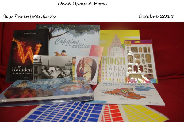 Box n°6 : Once Upon A Book, Box Parents-enfants Octobre 2015