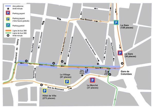 La rue Saint-Denis devient Espace Saint-Denis Village, coeur de Colombes