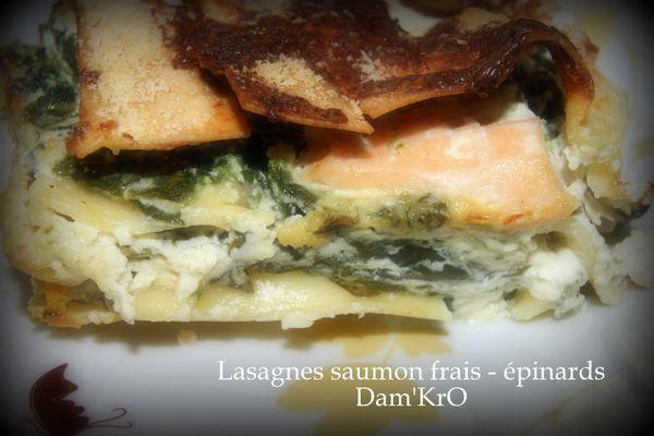Lasagnes saumon frais-épinards