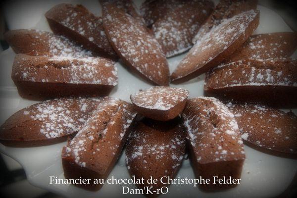 Financiers au chocolat de Christophe Felder