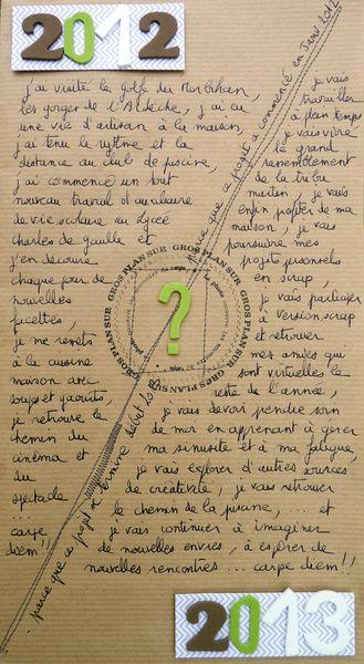 Bonheur, No futur, 2012/2013