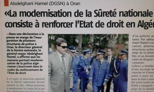 Abdelghani Hamel (DGSN): « La modernisation de la sûreté nationale consiste à renforcer l'état de droit en Algérie».