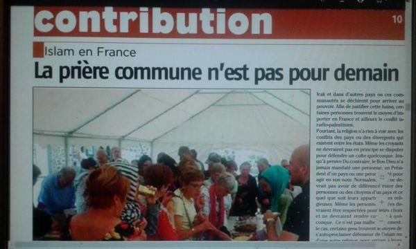 Islam en France : La prière commune n'est pas pour demain