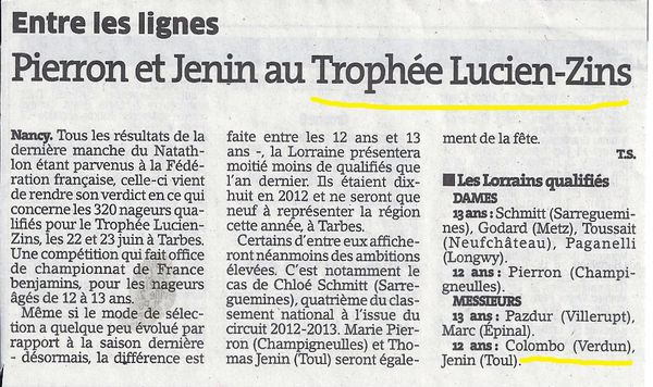 TROPHÉE ZINS QUALIFICATIONS REGIONALES