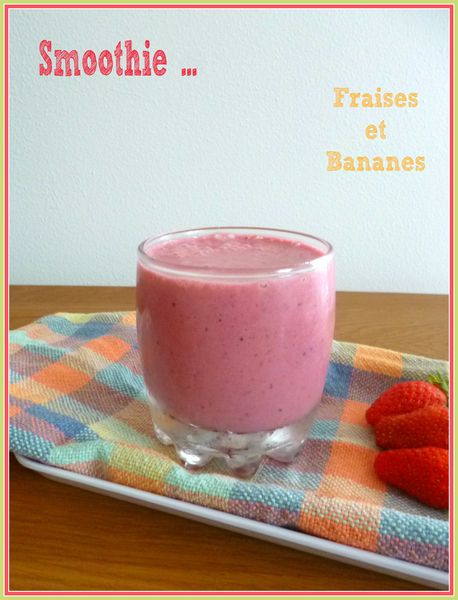 smoothie fraises et bananes petite eva cuisine. Black Bedroom Furniture Sets. Home Design Ideas