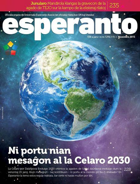 Enhavo de la novembra numero de la revuo « Esperanto »