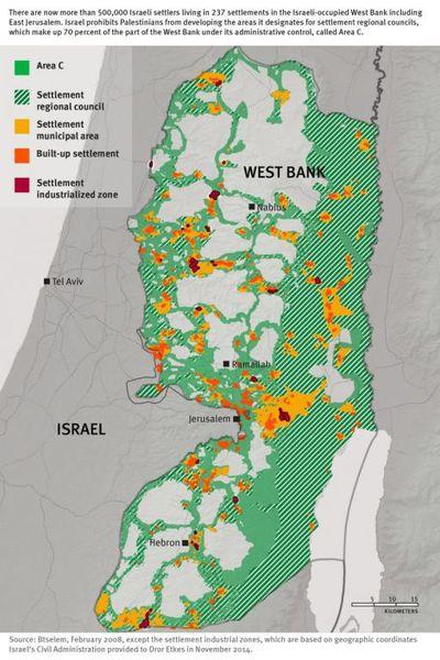 Cisjordanio : raporto denuncas la prosperan negocon en la israelaj kolonioj