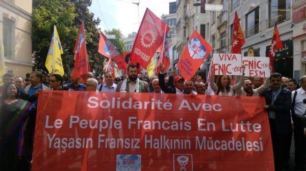 Francio : 1 miliono da salajruloj sur la parizaj stratoj laŭ la sindikatoj CGT kaj FO