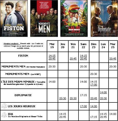 CINEMA IMAGES : LE PROGRAMME...