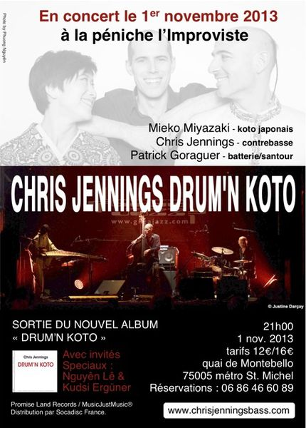 Chris Jennings Drum'n koto (Péniche Improviste, 1er novembre)