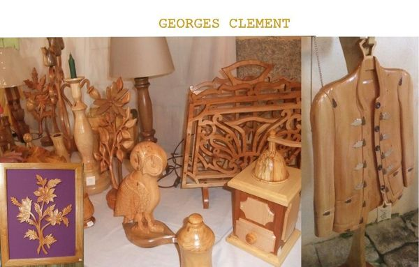 sculptures bois Georges Clement