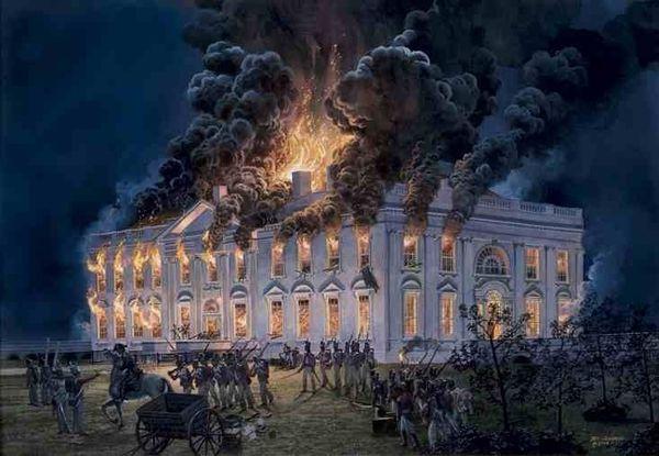 L'incendie de la Maison Blanche 24 août 1814