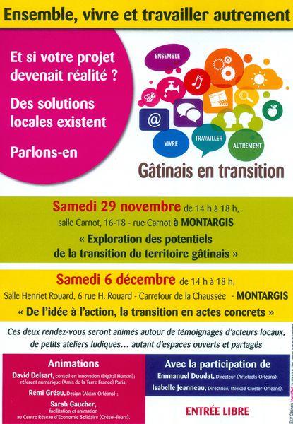 J-1 Ensemble, vivre et travailler autrement, Gâtinais en transition.
