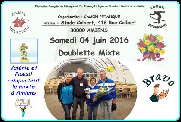 Doublette mixte - Amiens le 4 juin 2016